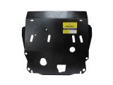 Защита (двигатель, КПП) Nissan X-Trail 2007-; все объемы, сталь 2 мм, [ вес 8,73кг, щитов: