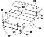 Защита {картера и КПП} CHRYSLER Sebring Coupe (1994 - 2000) 2,5 (кузов: JR) сталь 2 мм, Гибка, 16,1к