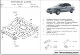 защита {картера и КПП} CHEVROLET Lanos (2003 - 2007) все (кузов: KLAT; SUPT) сталь 2 мм, Штамповка,