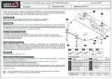 защита {картера и КПП} CHRYSLER Pacifica (2003 - 2006) 3,5 ; сталь 2,5 мм, Гибка, 16,35кг., 1 лист