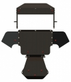 защита {картера} AUDI A 8 (1997 - 2002) 2,5d; 3,3d (кузов: 4D2 ; 4D8) сталь 2 мм, Гибка, 12,02кг., 1