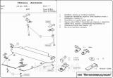 Защита картера Accord 2002-2008 2,0/2,4 картера и КПП сталь 2,0 мм
