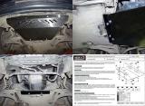 защита {картера} Mercedes-Benz CLK (2000 - 2003) 2,3 (кузов: W208) сталь 2 мм, Гибка, 8кг., 1 ли
