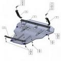 Защита  для картера двигателя и КПП Audi TT 8S