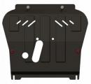 защита {картера и КПП} CHEVROLET Aveo (2008 - 2011) 1,2; 1,4; 1,5 ; сталь 2 мм, Универсальный штамп,