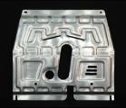 """Защита картера двигателя и КПП CHEVROLET """"Aveo"""" (2012-) алюминий"""