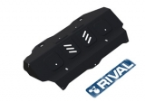 Защита радиатора и картера Автоброня, , Toyota Hilux V - 2.4, 2.8, 4WD, 2015-, штатный крепеж, сталь, (часть 1)
