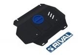 Защита радиатора и картера Автоброня, , Toyota Hilux V - 2.4, 2.8, 4WD, 2015-, штатный крепеж, сталь, (часть 2)
