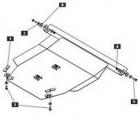 защита {картера и КПП} TOYOTA Vista Правый руль (1994 - 2003) 1,8; 2,0 (кузов: V40; V50) сталь
