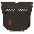 Защита картера и КПП, SAAB 9-5 (YS3E), 2,0; 2,3; 3,0; 1,9D; 2,2D; 3,0D, 1997 - 2010, сталь 2 мм
