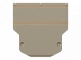 Защита {картера и КПП} AUDI Q 3 (2011 -) 2,0 АТ ; алюмин.