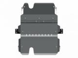 Защита {карт. КПП и РК} TOYOTA Land Cruiser 76 (2012 -) 4,2 D МТ ; алюмин.
