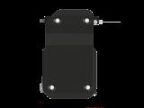 Защита топливного фильтра для CHERY Tiggo 4, 7 019-, , сталь 2,0 мм