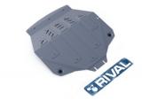 Защита картера и КПП, ACURA MDX III V - 3.5, 2013-, крепеж в комплекте, алюминий