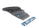 Защита картера Rival, , BMW X1 20i/20d/25d/4WD, 2009-, крепеж в комплекте, алюминий, ()