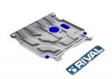 Защита картера + КПП + комплект крепежа, RIVAL, Сталь, Hyundai Solaris 2017-, V - 1.4; 1.6/Kia Rio 2017-, V - 1.4; 1.6/Kia Rio X-Line 2017-, V - 1.4; 1.6