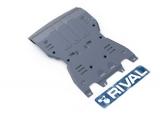 Защита КПП и РК Rival, , Porsche Macan V - 3.0, 3.6, 2014-, крепеж в комплекте, алюминий, ()