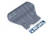 Защита картера и КПП Skoda Octavia А7 V - 1,4 TSI, 1,8 TSI; 1,6mpi (2013-)+ креп. (без Webasto) алюминий