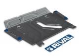 Защита картера и КПП Toyota Rav 4 V - все, кроме V - 2.0CVT, 2.2D AT, 2006-2013/2013-, крепеж в комплекте, алюминий, (аналог 111.05798.1)