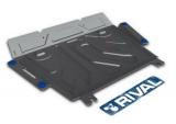 Защита картера и КПП Toyota Rav 4 V - 2.0CVT, 2.2D AT, 2006-2013/2013-, крепеж в комплекте, алюминий