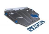 Защита картера и КПП  Toyota Corolla/Auris V - 1.6, 1.8, 2007-2013/2013-, крепеж в комплекте, сталь, (Увеличенная, аналог 111.05799.1) алюминий