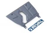 Защита картера и КПП Rival, , Toyota Rav 4 V - все, кроме V - 2.0CVT, 2.2D AT, 2006-2010/2010-, крепеж в комплекте, алюминий