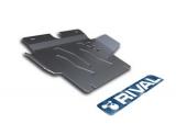 Защита картера  Toyota Hilux V - 2.5 D, 4D, 3.0TD, 2007-2015, штатный крепеж, алюминий