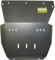 Защита (радиатор, двигатель) VW Amarok 2010>; V=2,0TDi, алюминий 8 мм, [МКПП 4WD поверх штатной вес