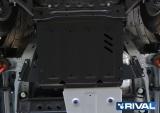 Защита РК + крепеж, RIVAL, Сталь, Mitsubishi Pajero IV 2011-,V - 3.0; 3.2d(188л.с.; 200л.с.); 3.8/Mitsubishi Pajero III 1999-2006,V - все/Mitsubishi Pajero IV 2006-2011,V - 3.0; 3.2d(188л.с.; 200л.с.); 3.8