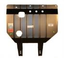 Защита картера и КПП (двигателя и коробки) Ниссан Ноте (2005-) V-1.6 (сталь 2мм)
