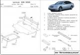 Защита {картера и КПП} LEXUS GS300 Европа (1997 - 2004) 3,0 (220hp) ; сталь 2 мм, Гибка, 14,7кг., 2