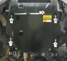 Защита (двигатель, КПП) Chevrolet Captiva 2006-2011;Opel Antara 2006-2011; все объемы, сталь 3 мм, [