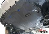 Защита картера + КПП + крепеж, Сталь, Volkswagen Caddy 2015-, V - 1.6
