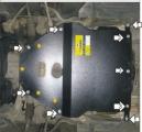 Защита  для картера, КПП BMW 5-серия E39 520 1995-2004