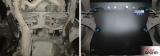 Защита КПП + крепеж, АвтоБРОНЯ, Сталь, Subaru Forester 2003-2008, V - 2.0; АКПП