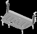 Защита стальная 1,5мм Д,КПП Kia Picanto с 2017 -