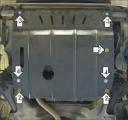 Защита (двигатель, КПП) Chevrolet Cavalier 1996-2003; V=2,2, сталь 2 мм, [АКПП вес 10,88кг, щитов: 1