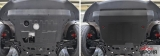 Защита картера + КПП + комплект крепежа, АвтоБРОНЯ, Сталь, Geely Coolray 2020- , V - 1.5