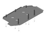 Защита топливного бака стальная 3 мм Б VW Caravelle; V=2,0TD; с 2009 г по н.в.