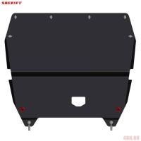 Защита картера и КПП для HYUNDAI i40, 2 012-, , сталь 2,5 мм