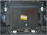 Защита картера и КПП Hyundai Solaris 10-16/Rio 10-16