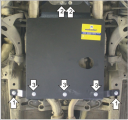 Защита (АКПП) Subaru Legacy 1998-2004;Subaru Outback II 1998-2004; V=2,5 3,0, сталь 2 мм, [ вес 6,8