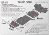 Защита раздаточной коробки Nissan Patrol Y62 2010-