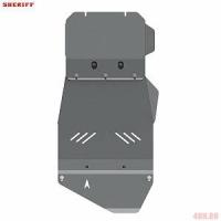 Защита картера и КПП для SSANG YONG Rexton, 2 004-2 007, GAB, сталь 2,5 мм