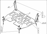 Защита картера двигателя, КПП стальдля Hyundai Santa Fe 2012-2018, Hyundai Santa Fe Premi