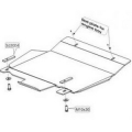 Защита {АКПП} SKODA Superb - для 0669 (2002 - 2008) 1,8; 2,0; 2,8; 1,9D; 2,0D;2,5D (кузов: 3U4) алюм