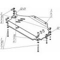 Защита (КПП) VW Touareg 2006>2010>; V=3,0 TD; V=3,6 FSI,/Porsche Cayenne алюминий 8 мм, [аналог 35401 и 12708 вес